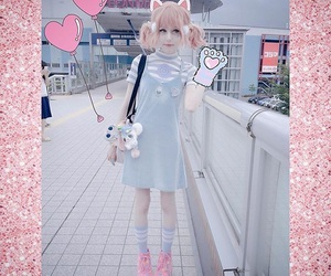 cosplay, pink, and cute image