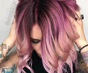 bob, hairstyles, and purple hair image