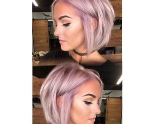bob, light purple, and short hair image