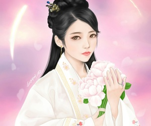 anime, lee ji-eun, and hanbok image