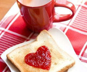 heart, breakfast, and toast image