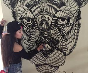 art, draws, and tiger image