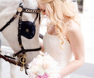 bride, happilyeverafter, and horse image