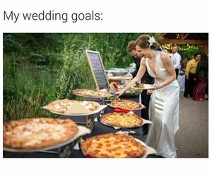 wedding, pizza, and funny image