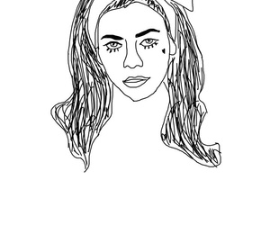 marina, marina and the diamonds, and outlines image