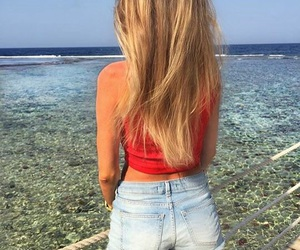 beach, chill, and blonde image