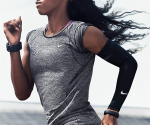 fitness, nike, and training image