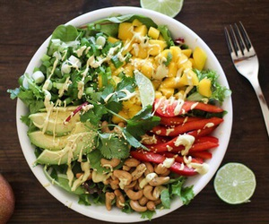 healthy, salad, and avocado image