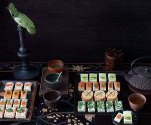 food, photography, and sushi image