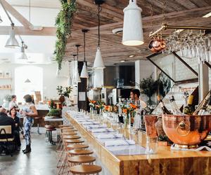 restaurant, interior, and food image