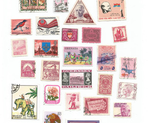 stamp and pink image