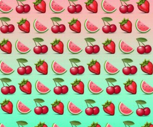 cherry, watermelon, and strawberry image