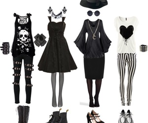 black, outfits, and punk image