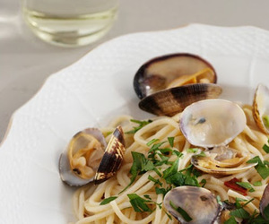 cooking, fettuccine, and pasta image