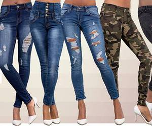 blue jeans, ripped jeans, and skinny jeans image