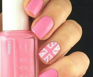 nails, nice, and pink and white image