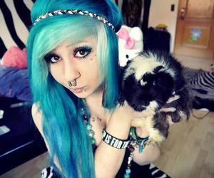 blue hair, verena schizophrenia, and piercing image