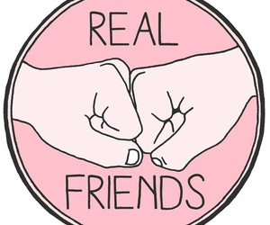 real friends, cute, and friends image
