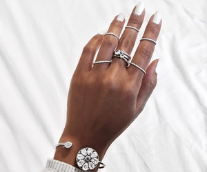 fashion, rings, and nails image