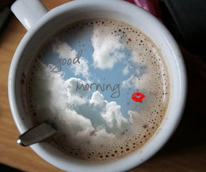 air, clouds, and coffee image