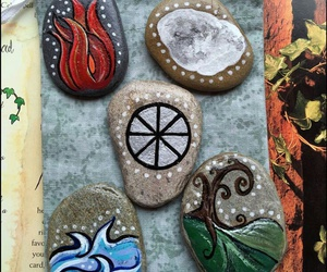 elements, stones, and wiccan image