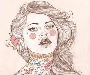 tattoo, illustration, and art image