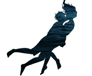 percabeth, blue, and kiss image