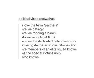 funny, partners, and Relationship image