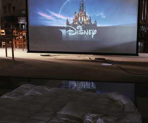 bed, disney, and movie image