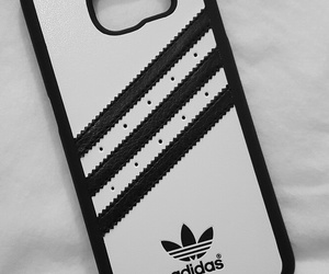 adidas, phone case, and black and white image
