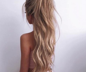 blonde, mermaid hair, and braid image