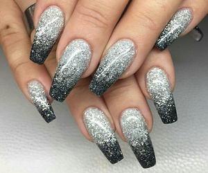 black, diamond, and glitter image