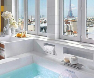 paris, bathroom, and white image