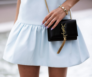 fashion, dress, and YSL image