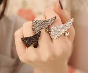 rings, ring, and wings image