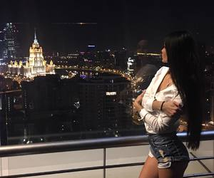 city, girl, and style image