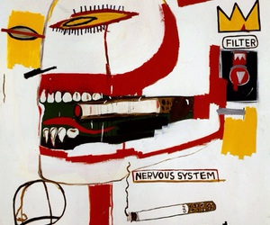 addiction, painting, and jean michel basquiat image