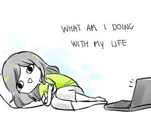 life, funny, and anime image