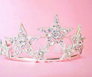 pink, crown, and girly image