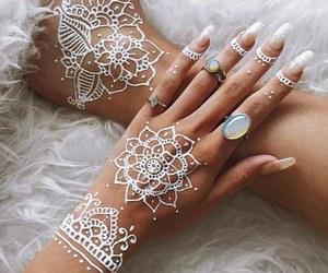 henna, nails, and rings image