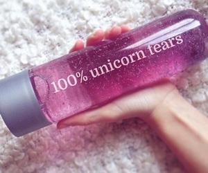 unicorn, pink, and tears image