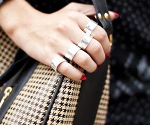 bag, fashion, and hand image