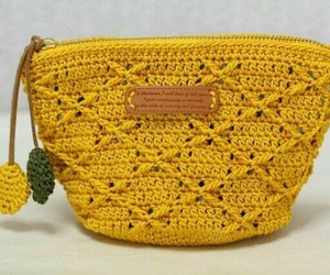 bag, crochet, and handmade image