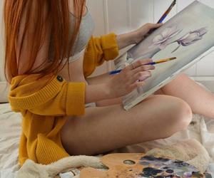 art, artsy, and girl image
