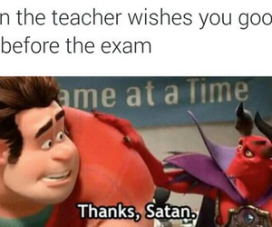 funny, exam, and satan image