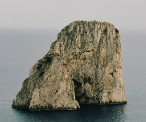 capri, landscape, and sea image