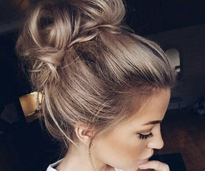 hair, hairstyle, and makeup image
