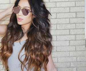 brunette, goals, and long hair image