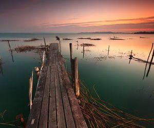lake, nature, and sea image