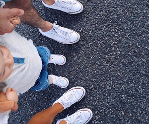 converse, family, and baby image